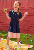 Детское летнее контрастное платье Skater