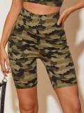 Shorts de verano con estampado de camuflaje