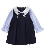 Детское осеннее контрастное платье для девочек