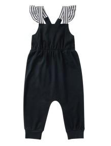 キッズガールサマーブラックジャンプスーツ