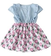 Kindermeisje zomerjurk met hartjesprint