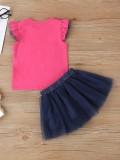 Conjunto de falda de tutú de dos piezas para niña de verano para niños