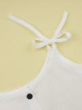 Conjunto de pantalones de dos piezas para niña, verano, blanco y negro