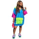 Vestido camisero suelto de contraste africano de verano