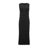 Vestido informal de manga larga con rayas a rayas sin mangas de verano