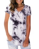 Camisa de verano con cuello en V y cuello en V regular
