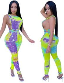 Summer Tie Dye Sexy zweiteiliges Hosen-Set