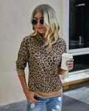 Sudadera con estampado de leopardo y cintura alta con cremallera de Falls