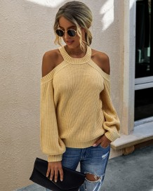 Falls Plain Halter Regular Sweaters