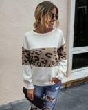 Falls Leopard suéteres regulares de cuello redondo
