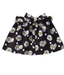 Minigonna nera floreale estiva per bambina