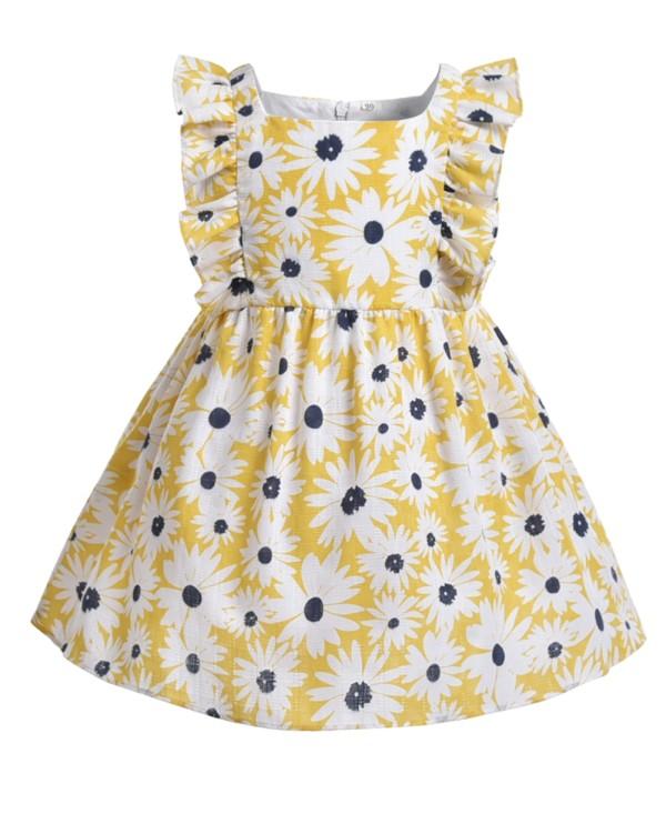Детское летнее платье с цветочным принтом Kids Girl