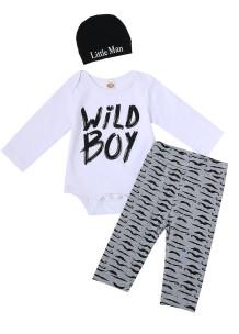Conjunto de roupa interior de bebê menino 3PC