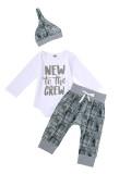 Conjunto de 3 piezas de ropa interior con estampado de bebé niño