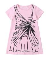 Vestido camisero rosa estampado verano niña niños