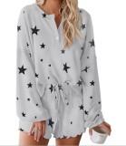 Conjunto de pijama de dos piezas Falls Stars Shorts