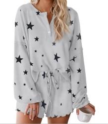 Falls Stars Zweiteilige Shorts Pyjama Set