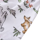 Conjunto de pijama de dos piezas con estampado de otoño para niños