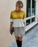 Mini vestido de punto en contraste de otoño