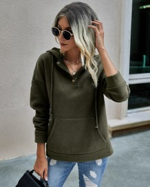 Autumn Pocket Hoody Sweat Shirt