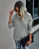 Sudadera con capucha y bolsillo de otoño