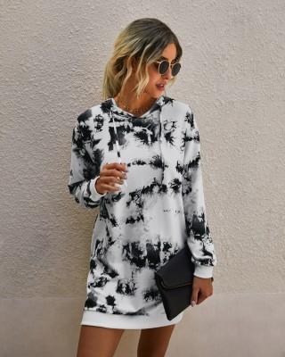 Felpa con cappuccio autunno Tie Dye Fashion