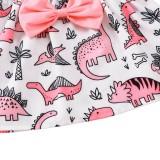 Conjunto de falda de dos piezas con estampado otoñal para niña