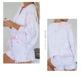 Conjunto de pijama de dos piezas Falls Tie Dye Shorts