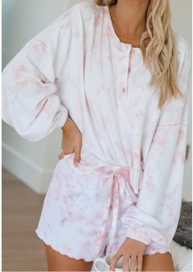 Falls Tie Dye Two Piece Shorts Pajama Set