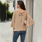 Suéter de manga murciélago otoño