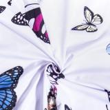 Conjunto de top y leggings con correa de mariposa sexy
