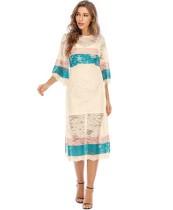 Western tweedelige kanten boho-jurk