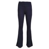 Pantalones de oficina lisos elegantes occidentales