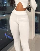 Pantalones de punto sexy de cintura alta