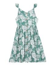 Sommer Familienmädchen Blumenriemen Kleid