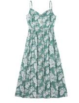 Sommer Familie Mama Blumenriemen Kleid