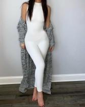 Sexy Plain ärmelloser Bodycon Jumpsuit