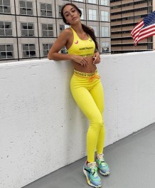 Sports Fitness Print Bra and Legging Set