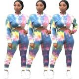 Conjunto de pantalones de dos piezas Fall Dye Tie