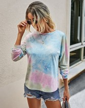 Autumn Tie Dye O-Neck Shirt