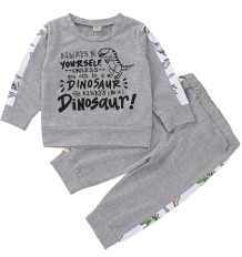 Cartoon Print Boy Long Sleeve Tracksuit