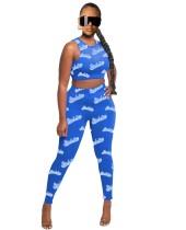 Conjunto de verano de dos piezas bodycon crop top y legging