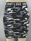 Conjunto de falda de dos piezas con estampado Summer Camou