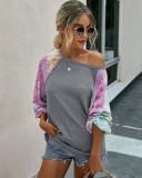 Осенняя футболка с длинными рукавами и поп-рукавами