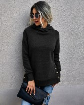 Autumn Plain Hoodie Sweat Shirt