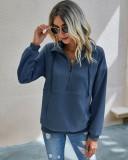 Осенняя рубашка с карманами на молнии