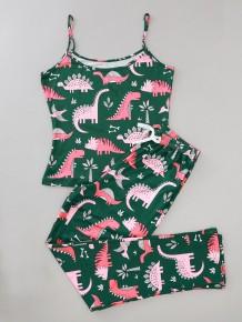 Dames Zomerprint Tweedelige broek Pyjama Set