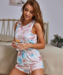 Summer Tie Dye tweedelige short Pyjama Set