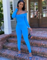 Solid Color Sexy Two Piece Tight Pants Set