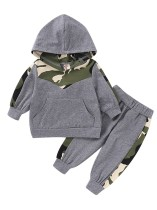 Kids Boy Осенний спортивный костюм из двух частей Camou